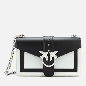 Pinko Women's Love Evolution Shoulder Bag - Black/White