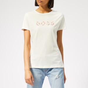 BOSS Women's Techeck Logo T-Shirt - Off White