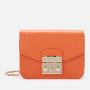 Furla Women's Metropolis Mini Cross Body Bag - Mandarin