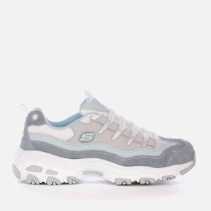 Skechers Women's D'Lites Sure Thing Trainers - Blue/Grey/White: Image 1