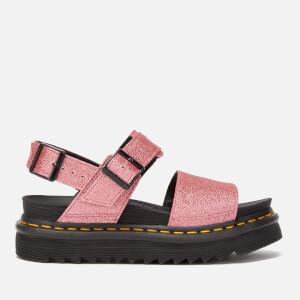 Dr. Martens Women's Voss Glitter Double Strap Sandals - Pink