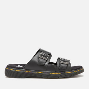 Dr. Martens Men's Nikolai Leather Double Strap Sandals - Black