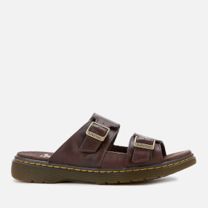 Dr. Martens Men's Nikolai Leather Double Strap Sandals - Dark Brown