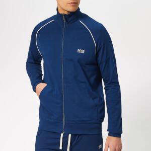 BOSS Men's Zip Jersey Jacket - Bright Blue