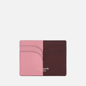 Kate Spade New York Women's Nicola Bi Colour Card Holder - Roasted Fig/Rococo Pink: Image 2