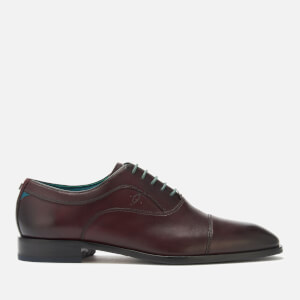 Ted Baker Men's Fually Leather Toe Cap Oxford Shoes - Dark Red