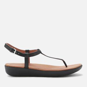 6bae8d818b19e2 FitFlop Women s Tia T Bar Sandals - Black