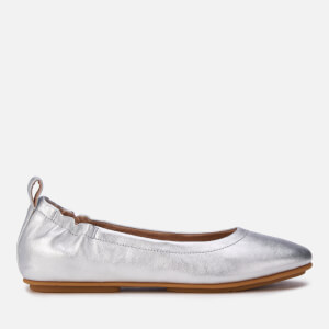 FitFlop Women's Allegro Leather Ballet Flats - Silver