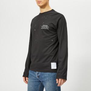 Satisfy Men's Deserter Moth Eaten Long Sleeve T-Shirt - Black Wash