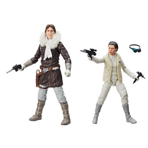 Hasbro Star Wars The Black Series: Han Solo and Princesss Leia Organa Hascon Exclusive Figures