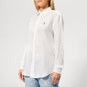 Polo Ralph Lauren Women's Relaxed Long Sleeve Shirt - White