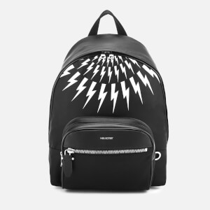 Neil Barrett Men's Classic Nylon Backpack - Black/White
