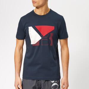 BOSS Men's Boss Motif T-Shirt - Navy