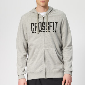 Reebok Men's Crossfit Zip Hoodie - Grey Heather