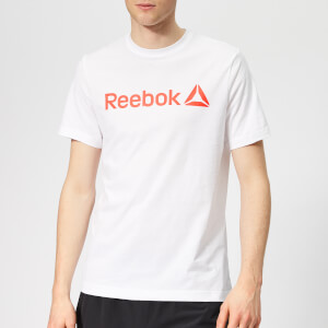 Reebok Men's Linear Short Sleeve T-Shirt - White