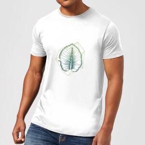 Barlena Geometry and Nature Men's T-Shirt - White