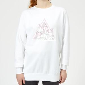 Barlena Crystals Women's Sweatshirt - White