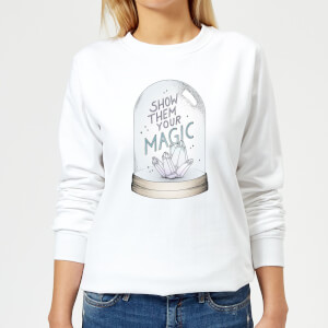 Barlena Show Them Your Magic Women's Sweatshirt - White