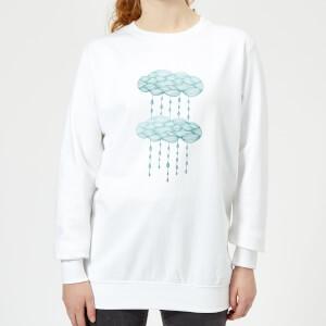 Barlena Rainy Days Women's Sweatshirt - White