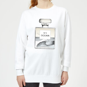 Barlena Ocean No5 Women's Sweatshirt - White