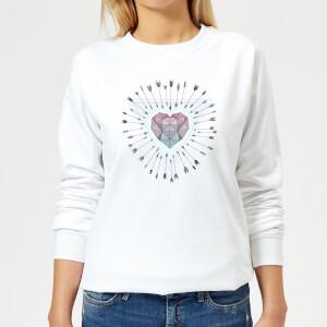 Barlena Young & Unafraid Women's Sweatshirt - White