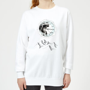 Barlena Take Your Time Women's Sweatshirt - White