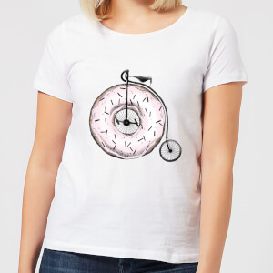 Barlena Donut Ride My Bicycle Women's T-Shirt - White