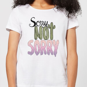 Barlena Sorry Not Sorry Women's T-Shirt - White