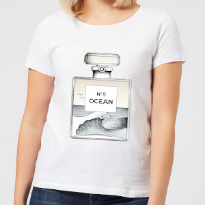 Barlena Ocean No5 Women's T-Shirt - White
