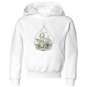 Barlena Succulent Terrarium Kids' Hoodie - White