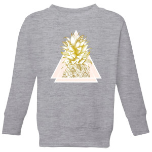 Barlena Pineapple Kids' Sweatshirt - Grey