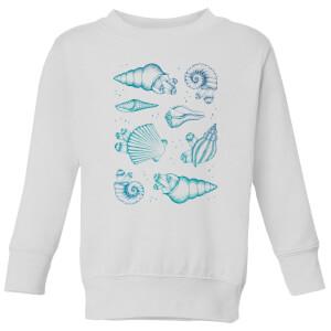 Barlena Ocean Gems Kids' Sweatshirt - White