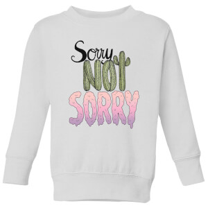Barlena Sorry Not Sorry Kids' Sweatshirt - White
