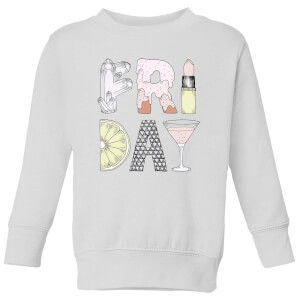 Barlena Friday Kids' Sweatshirt - White