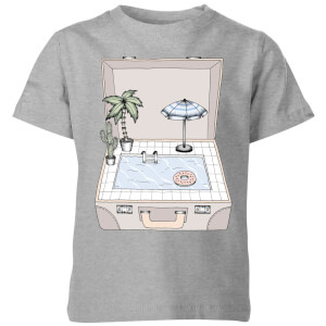 Barlena Pool To Go Kids' T-Shirt - Grey