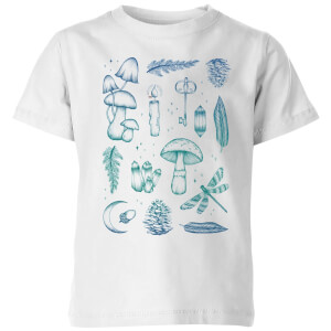 Barlena Enchanted Forest Kids' T-Shirt - White