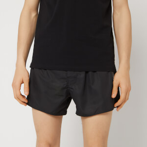 Emporio Armani Men's Tape Detail Swim Shorts - Black