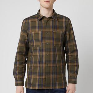A.P.C. Men's Chemise Achille Shirt - Kaki Militaire