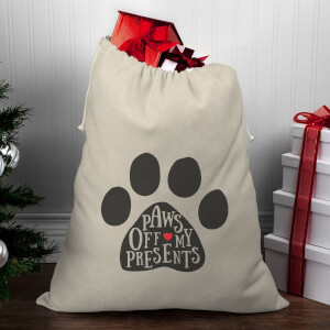 Paws Off My Presents Christmas Santa Sack