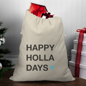 Happy Holla Days Christmas Santa Sack