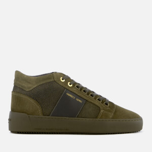 Android Homme Men's Propulsion Mid Geo Stingray Suede Trainers - Dark Sage/Olive