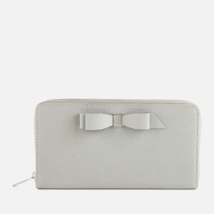 Ted Baker Women's Aine Bow Zip Around Matinee Purse - Grey
