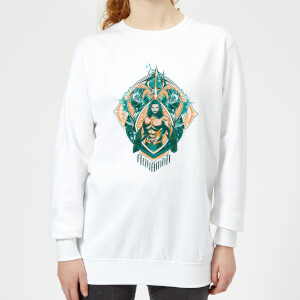 Aquaman Seven Kingdoms Women's Sweatshirt - White