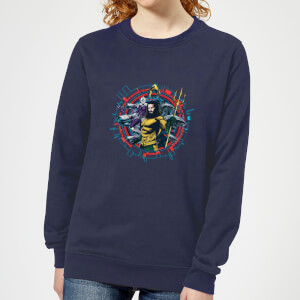 Aquaman Circular Portrait Women's Sweatshirt - Navy