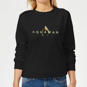 Aquaman Title Women's Sweatshirt - Black