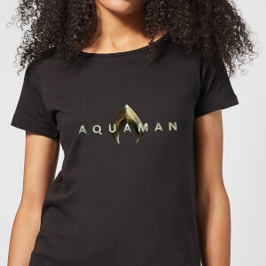 Aquaman Title Women's T-Shirt - Black