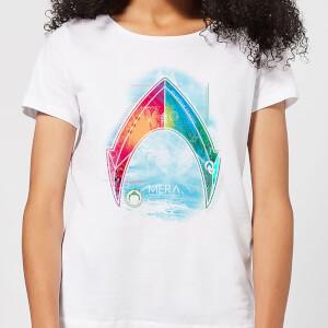 Aquaman Mera Beach Symbol Women's T-Shirt - White
