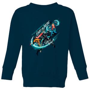 Aquaman Fight for Justice Kids' Sweatshirt - Navy
