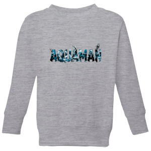 Aquaman Chest Logo Kids' Sweatshirt - Grey