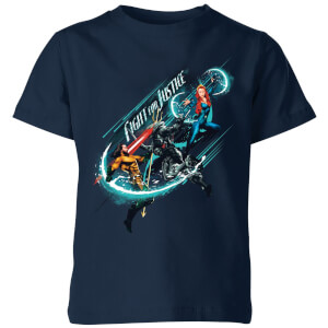 Aquaman Fight for Justice Kids' T-Shirt - Navy